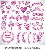 vector set  calligraphic design ... | Shutterstock .eps vector #171178382