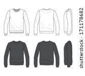 blank men's sweatshirt in front ... | Shutterstock .eps vector #171178682