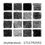 Set Of Grunge Textures With...
