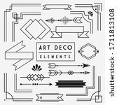 art deco borders graphic design ... | Shutterstock .eps vector #1711813108