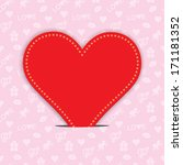 valentines day background with... | Shutterstock . vector #171181352