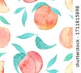 watercolor seamless pattern... | Shutterstock . vector #1711815898