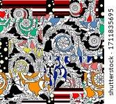 abstract ethnic spanish...   Shutterstock .eps vector #1711835695