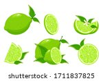cartoon lime. colorful whole ... | Shutterstock .eps vector #1711837825