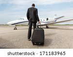 rear view of businessman with... | Shutterstock . vector #171183965