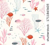 Sea Wildlife With Corals ...