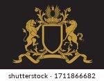 a coat of arms crest heraldic... | Shutterstock .eps vector #1711866682