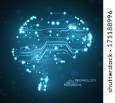 circuit board vector background ... | Shutterstock .eps vector #171188996