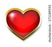 heart icon  button | Shutterstock . vector #171189542