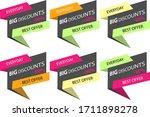 big discounts  for advertising  ... | Shutterstock .eps vector #1711898278