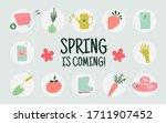 set of hand drawn garden... | Shutterstock .eps vector #1711907452