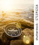 compass on the bank with... | Shutterstock . vector #171191216