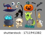 symbolic halloween holiday... | Shutterstock .eps vector #1711941382