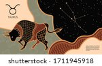 zodiac background....   Shutterstock .eps vector #1711945918