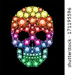 Skull Made Of Colored Gems
