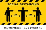 social distancing. keep the 2... | Shutterstock .eps vector #1711958542