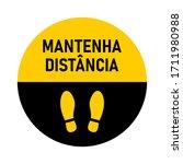 "mantenha dist ncia  ""keep your...   Shutterstock .eps vector #1711980988"
