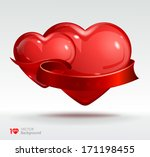 valentine's day background. two ... | Shutterstock .eps vector #171198455