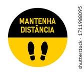 "mantenha dist ncia  ""keep your...   Shutterstock .eps vector #1711988095"