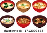 Illustration Set Of Miso Soup