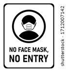 no face mask  no entry...   Shutterstock .eps vector #1712007142
