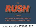 modern font  vector alphabet...   Shutterstock .eps vector #1712021725