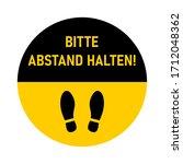 "bitte abstand halten  ""please...   Shutterstock .eps vector #1712048362"