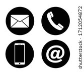 icon phone  smartphone  email.... | Shutterstock .eps vector #1712054872