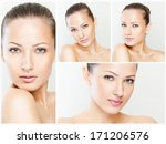 collage of a beautiful woman... | Shutterstock . vector #171206576