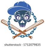 criminal tattoo  gang emblem or ... | Shutterstock .eps vector #1712079835