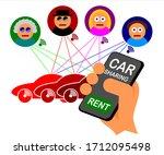 vector illustration of car... | Shutterstock .eps vector #1712095498