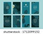 set of elegant brochure  card ... | Shutterstock .eps vector #1712099152
