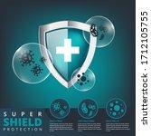medical shield protection logo...   Shutterstock .eps vector #1712105755