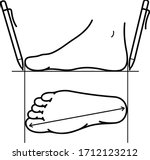 foot size measurement for shoes.... | Shutterstock .eps vector #1712123212