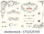 vector set of ornate... | Shutterstock .eps vector #1712125765