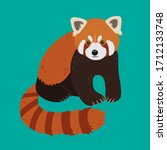 Red Panda In A Realistic Style...
