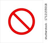 Vector Sign No Icon. Red Warning