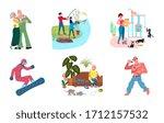 set of variety talents  skills  ... | Shutterstock . vector #1712157532