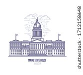 maine state house located in... | Shutterstock .eps vector #1712158648