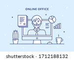 vector illustration of a remote ... | Shutterstock .eps vector #1712188132