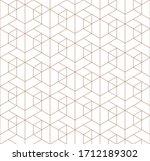 seamless geometric pattern.... | Shutterstock . vector #1712189302