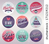 valentine s day set   labels ... | Shutterstock .eps vector #171219212