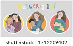 illustration set of mother and... | Shutterstock .eps vector #1712209402
