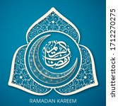 calligraphic text of ramadan... | Shutterstock .eps vector #1712270275