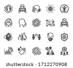 coronavirus icons. medical... | Shutterstock .eps vector #1712270908