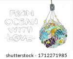 annually  pollution of ocean... | Shutterstock .eps vector #1712271985