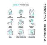 prevention line icons set... | Shutterstock .eps vector #1712308312