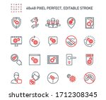 simple set of coronavirus...   Shutterstock .eps vector #1712308345