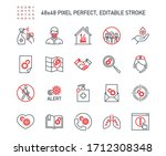 simple set of coronavirus...   Shutterstock .eps vector #1712308348