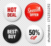 realistic badges with text.... | Shutterstock .eps vector #1712311252